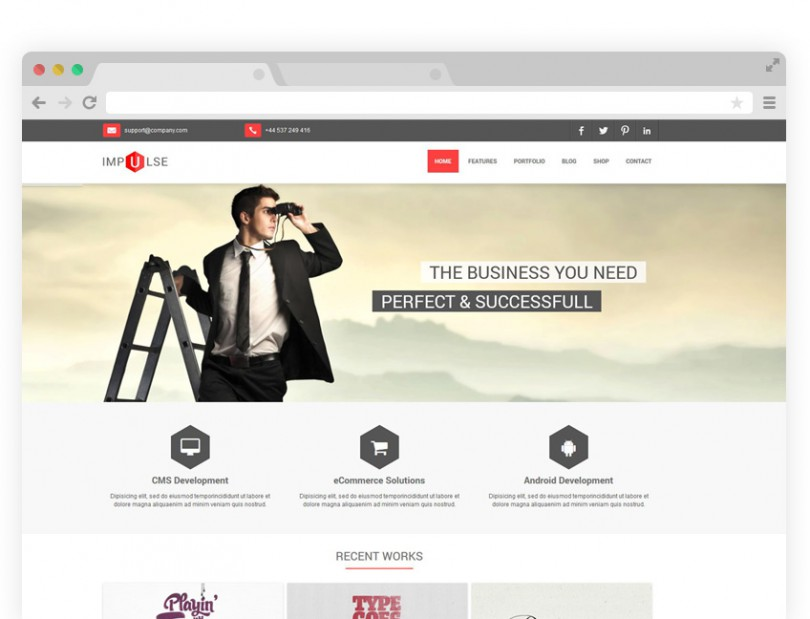 Impulse HTML Template ( $15.00 )