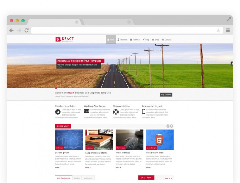 React WordPress Theme ( $39.00 )